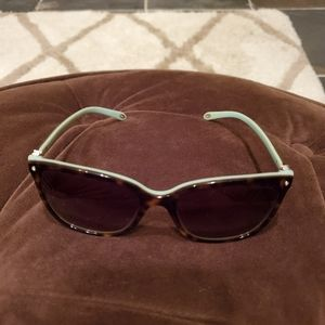 Tiffany & Co. blue & tortoise shell sunglasses.
